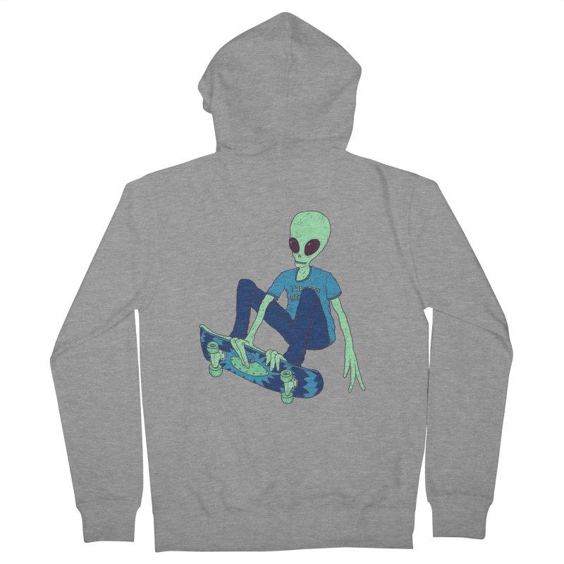 Alien Skater Women's Zip-Up Hoody by Laurent's Artist Shop
