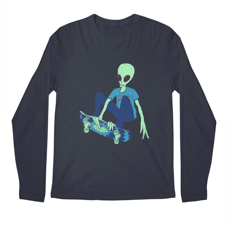 Alien Skater Men's Longsleeve T-Shirt by Laurent's Artist Shop