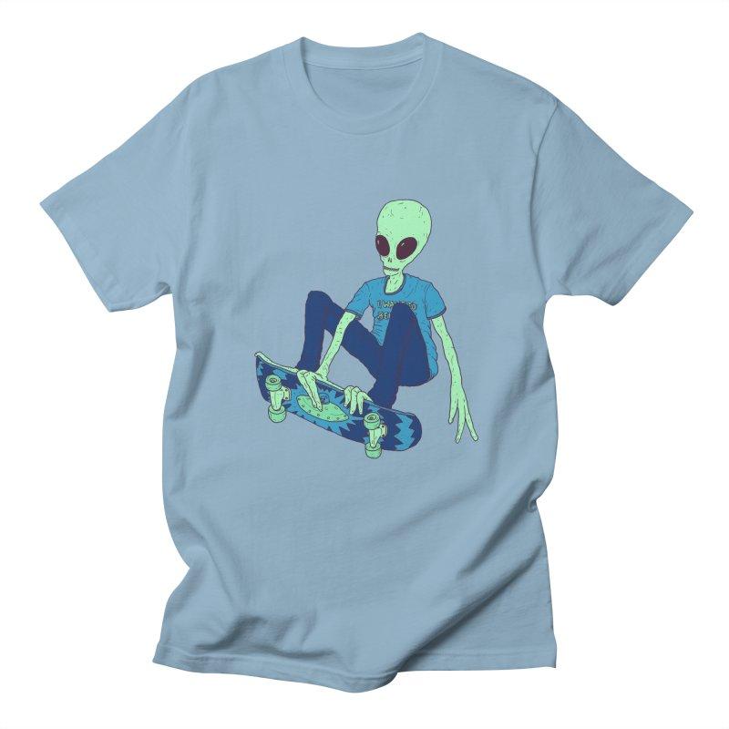 Alien Skater Men's T-Shirt by Laurent's Artist Shop