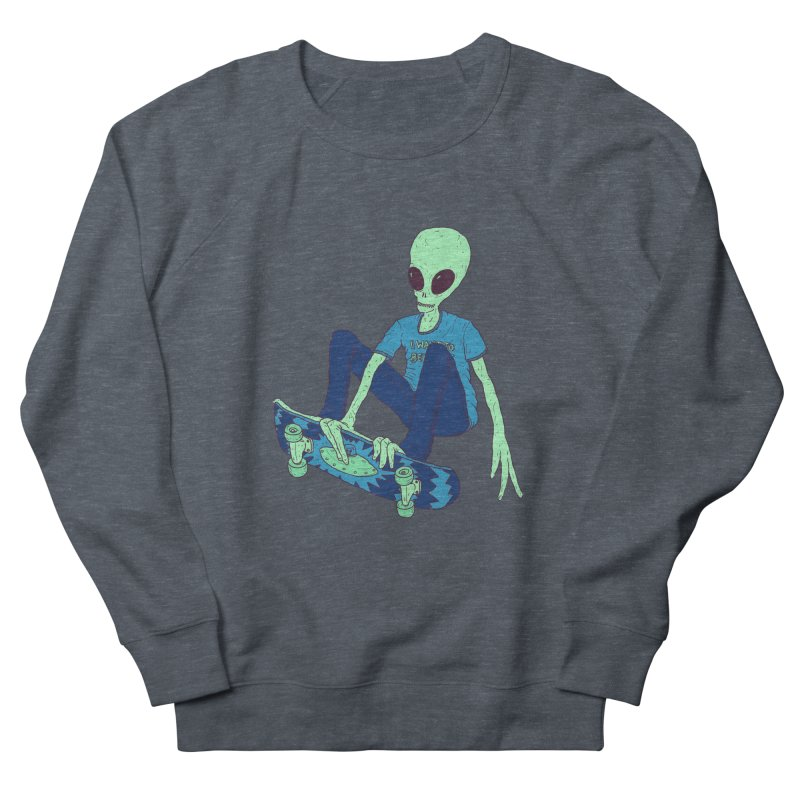 Alien Skater Women's French Terry Sweatshirt by Laurent's Artist Shop