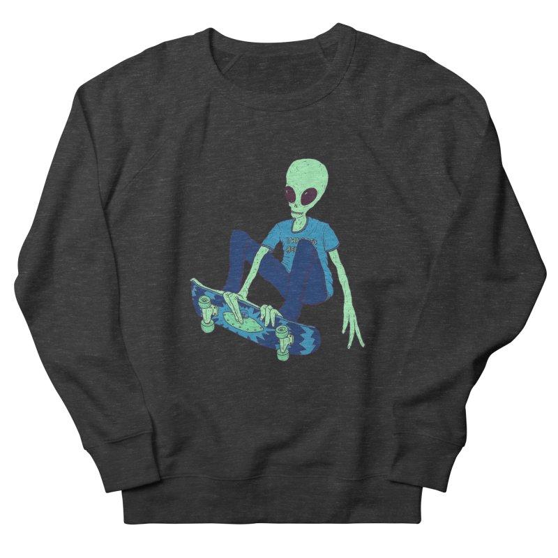 Alien Skater Men's French Terry Sweatshirt by Laurent's Artist Shop