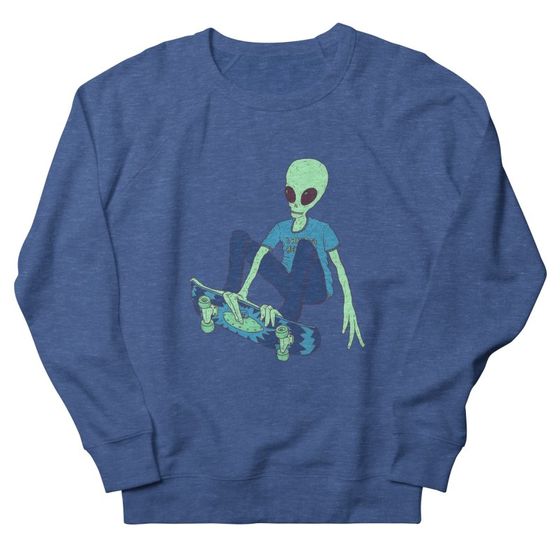 Alien Skater Men's French Terry Sweatshirt by Laurent's Artist Shop