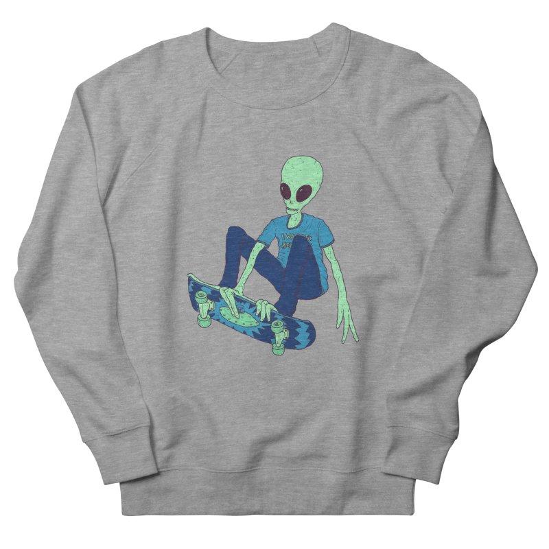 Alien Skater Men's Sweatshirt by Laurent's Artist Shop