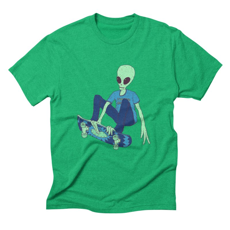 Alien Skater Men's Triblend T-shirt by Laurent's Artist Shop