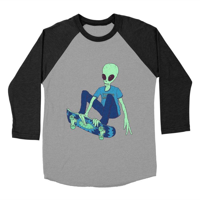 Alien Skater Women's Baseball Triblend Longsleeve T-Shirt by Laurent's Artist Shop