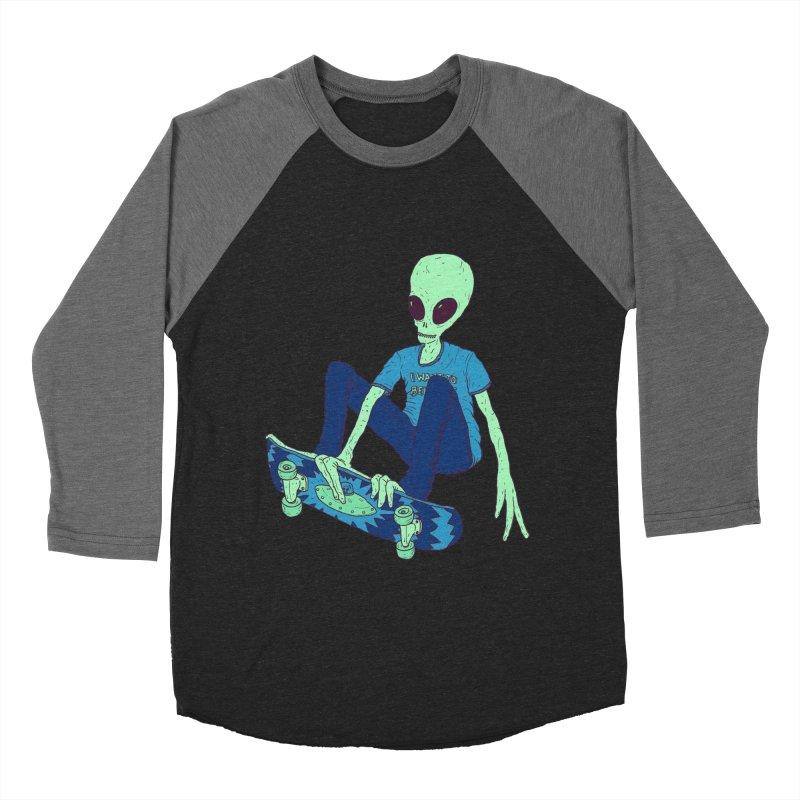 Alien Skater Men's Baseball Triblend T-Shirt by Laurent's Artist Shop