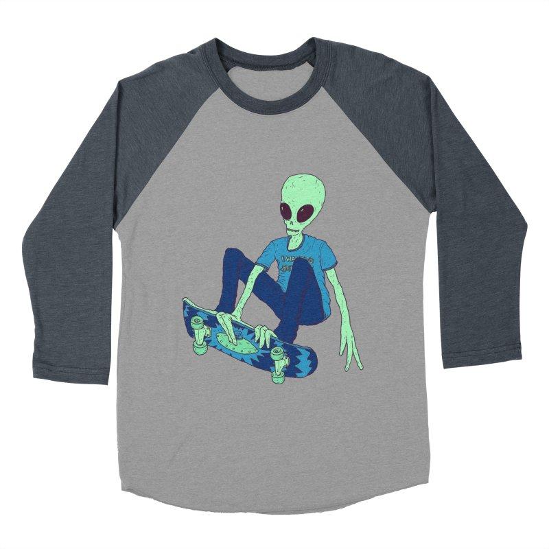 Alien Skater Men's Baseball Triblend Longsleeve T-Shirt by Laurent's Artist Shop