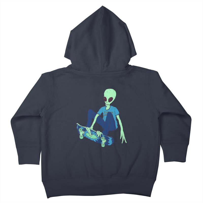 Alien Skater Kids Toddler Zip-Up Hoody by Laurent's Artist Shop