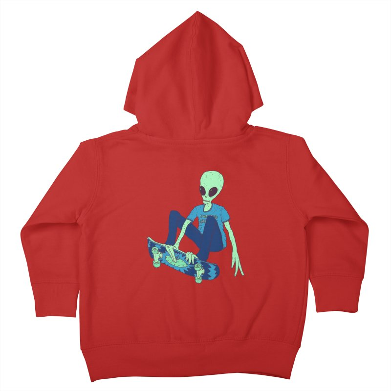Alien Skater Kids Toddler Zip-Up Hoody by Laurent's Artist Shop
