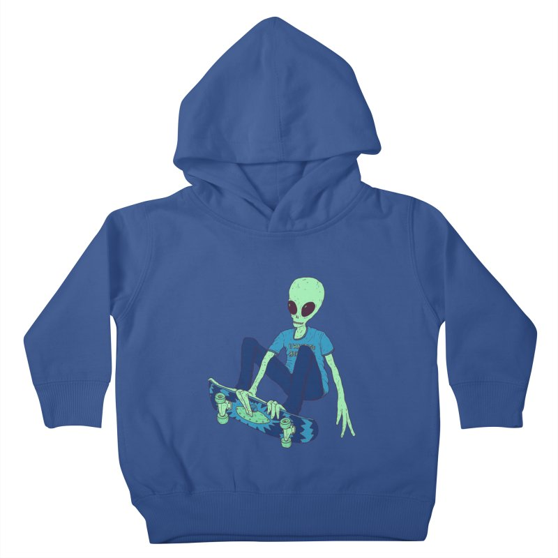 Alien Skater Kids Toddler Pullover Hoody by Laurent's Artist Shop