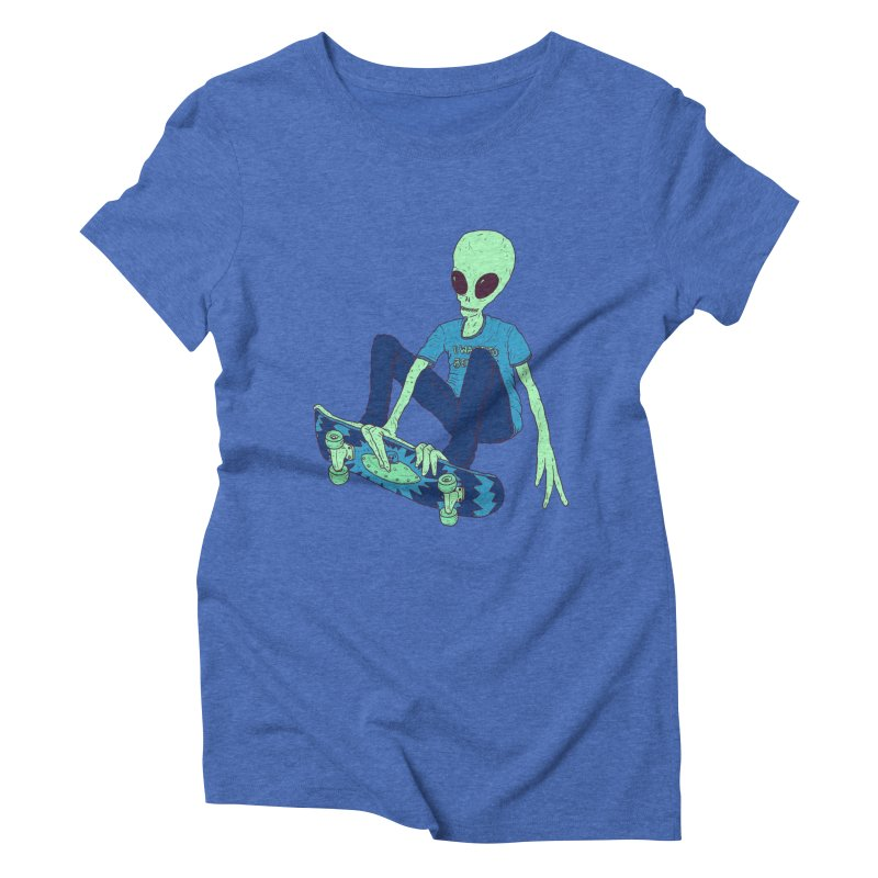 Alien Skater Women's Triblend T-Shirt by Laurent's Artist Shop
