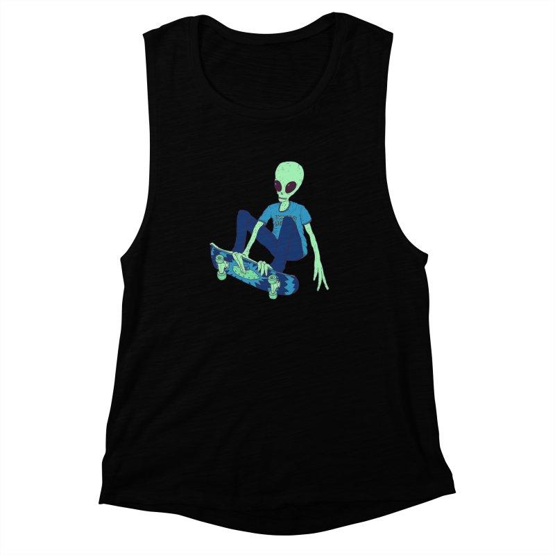 Alien Skater Women's Muscle Tank by Laurent's Artist Shop