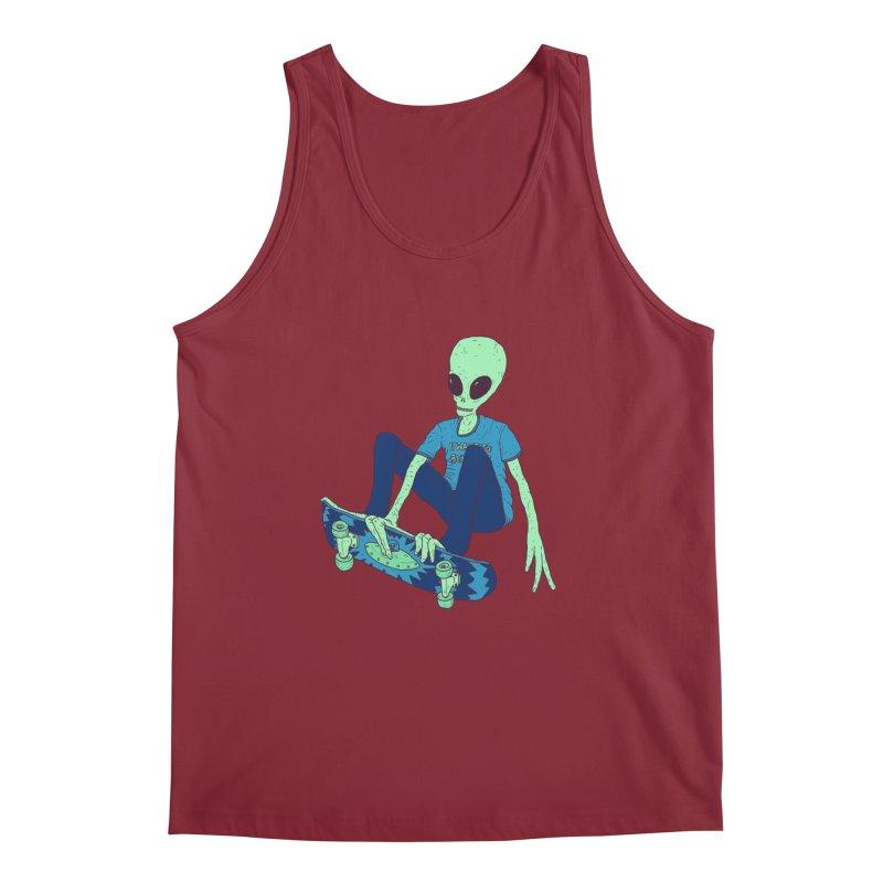Alien Skater Men's Regular Tank by Laurent's Artist Shop