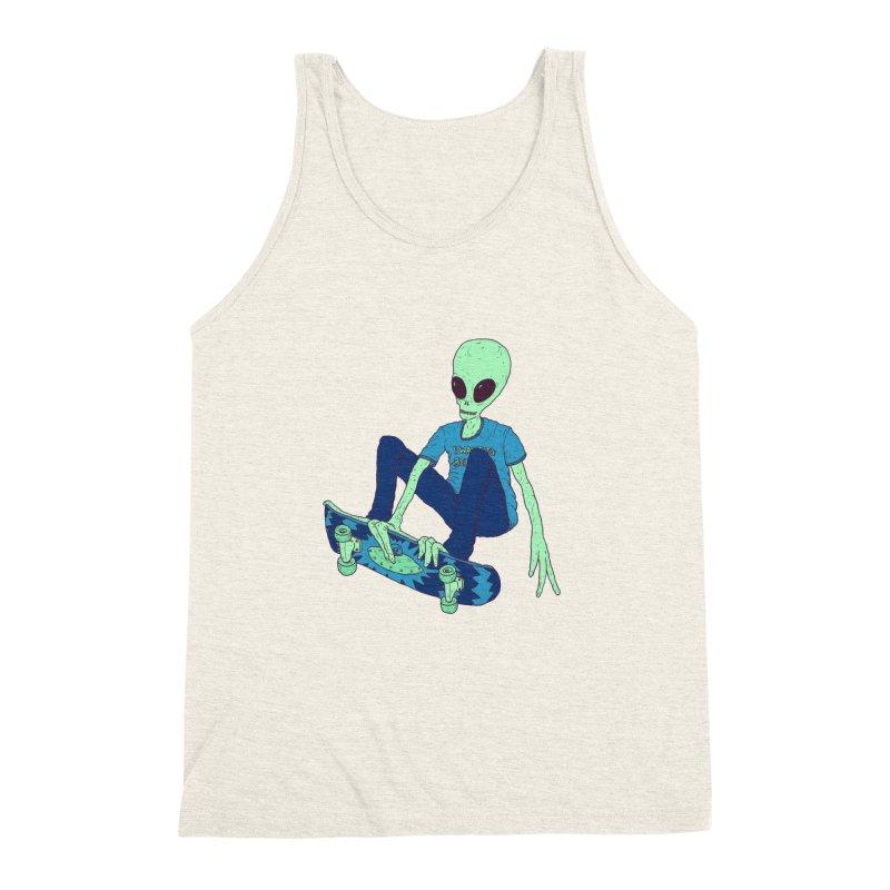 Alien Skater Men's Triblend Tank by Laurent's Artist Shop