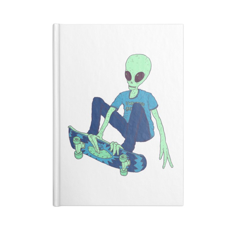 Alien Skater Accessories Notebook by Laurent's Artist Shop