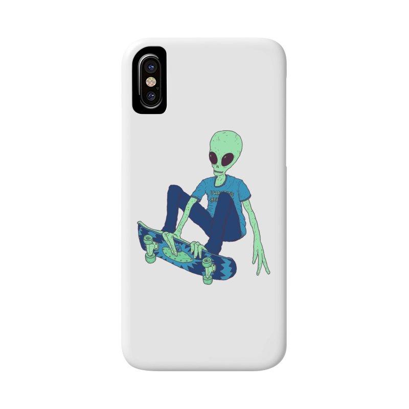 Alien Skater Accessories Phone Case by Laurent's Artist Shop