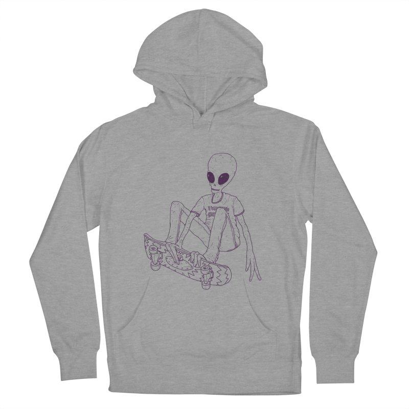 Alien Skater - Alt Women's Pullover Hoody by Laurent's Artist Shop