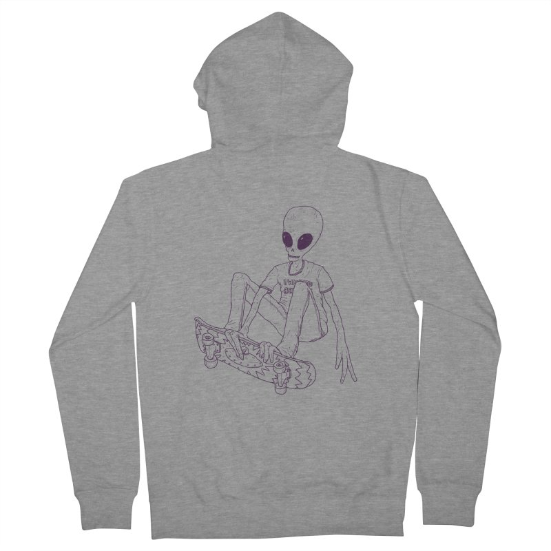 Alien Skater - Alt Men's Zip-Up Hoody by Laurent's Artist Shop