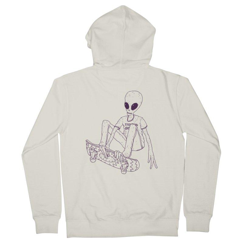 Alien Skater - Alt Men's Zip-Up Hoody by Laurent's Artist Shop
