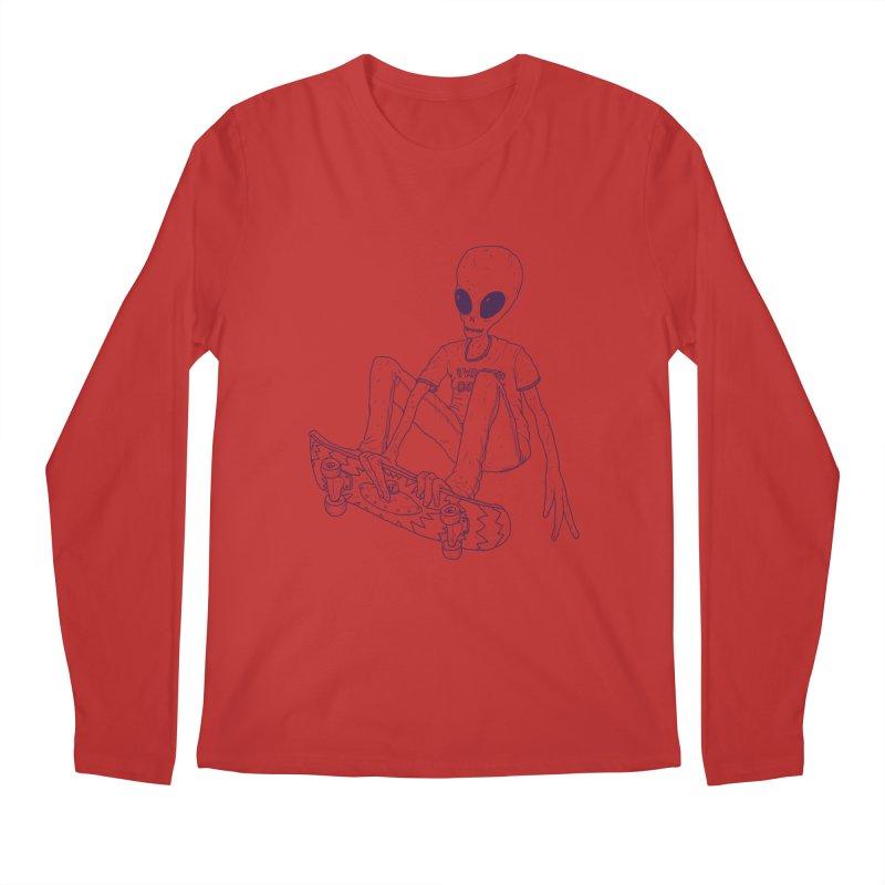 Alien Skater - Alt Men's Regular Longsleeve T-Shirt by Laurent's Artist Shop
