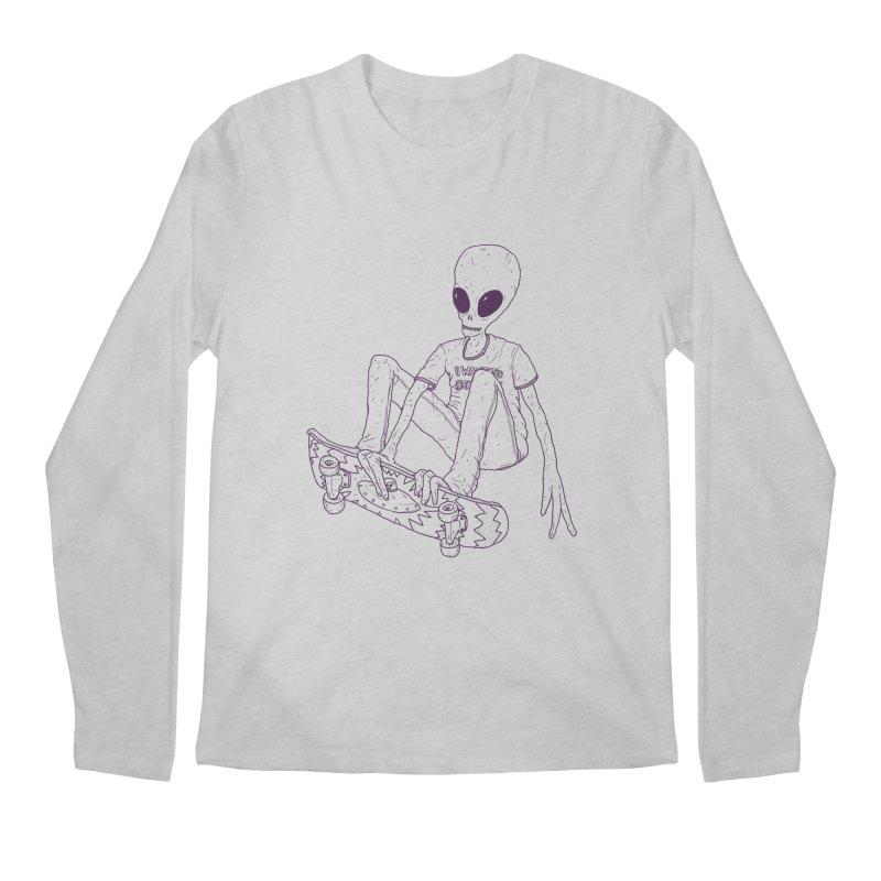 Alien Skater - Alt Men's Longsleeve T-Shirt by Laurent's Artist Shop