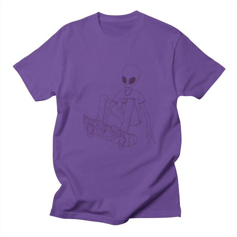 Alien Skater - Alt Men's Regular T-Shirt by Laurent's Artist Shop