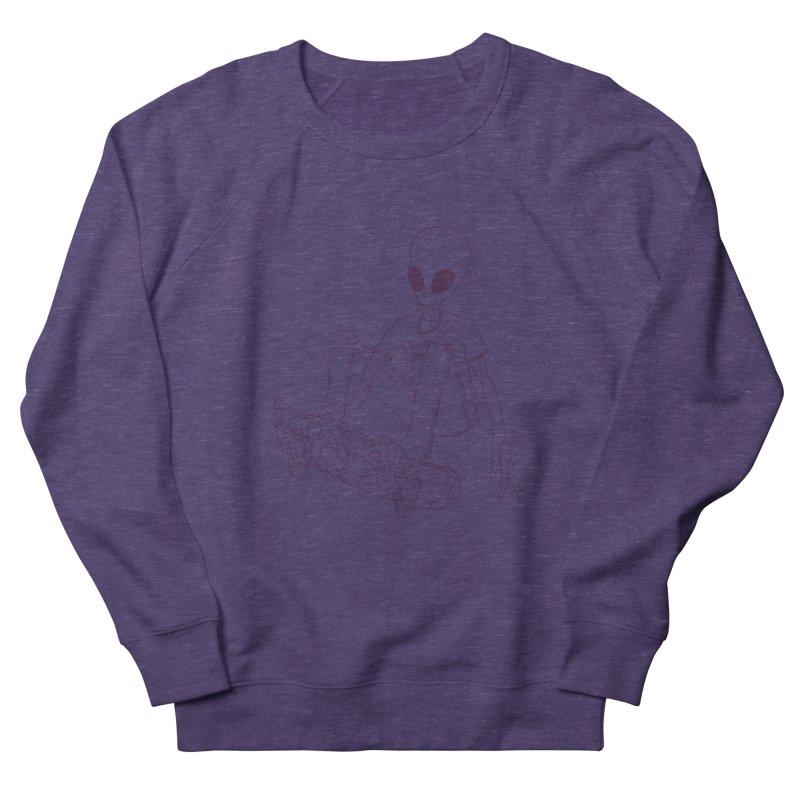 Alien Skater - Alt Women's French Terry Sweatshirt by Laurent's Artist Shop