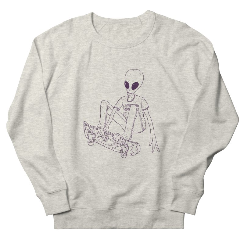Alien Skater - Alt Women's Sweatshirt by Laurent's Artist Shop
