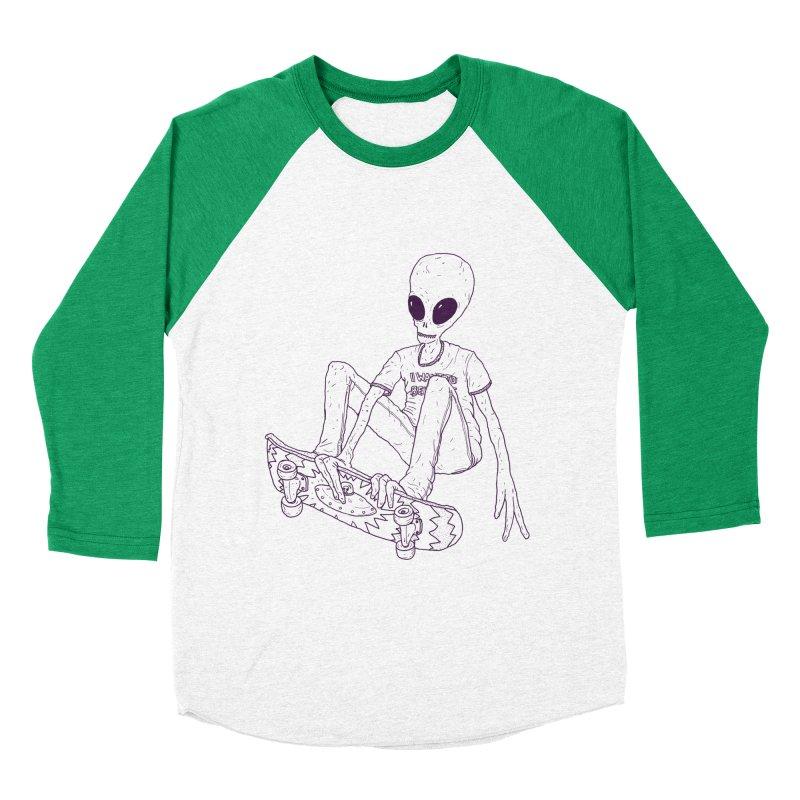 Alien Skater - Alt Women's Baseball Triblend Longsleeve T-Shirt by Laurent's Artist Shop