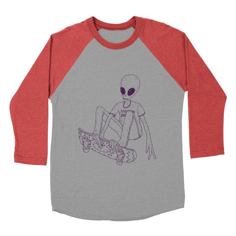 Alien Skater - Alt Men's Baseball Triblend Longsleeve T-Shirt by Laurent's Artist Shop