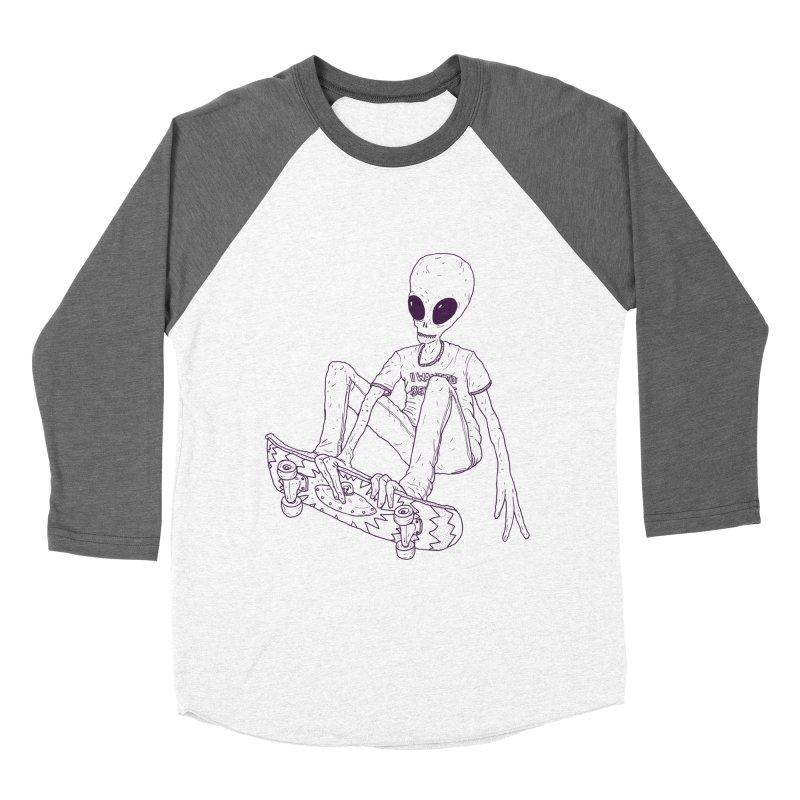 Alien Skater - Alt Men's Baseball Triblend T-Shirt by Laurent's Artist Shop