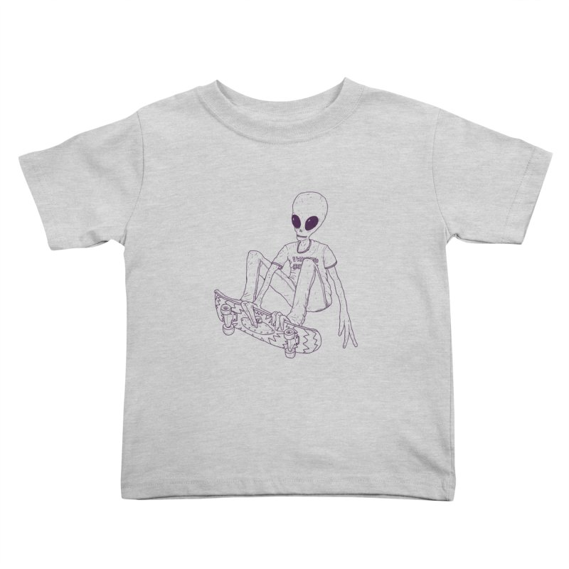 Alien Skater - Alt Kids Toddler T-Shirt by Laurent's Artist Shop