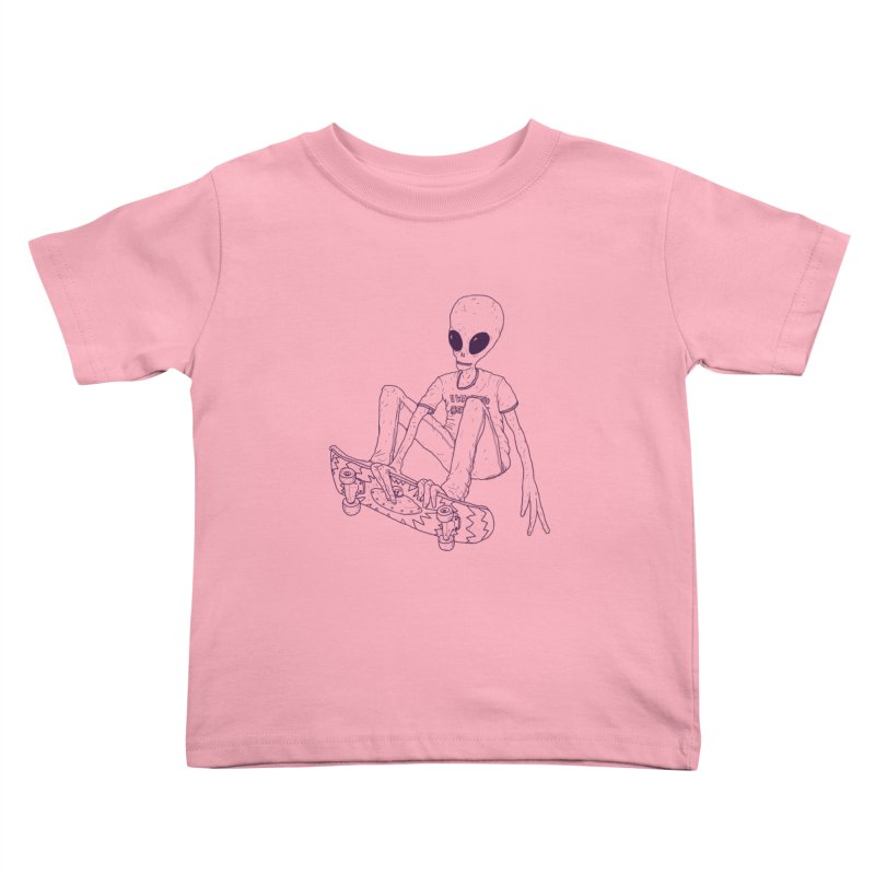 Alien Skater - Alt Kids Toddler T-Shirt by Laurent's Artist Shop
