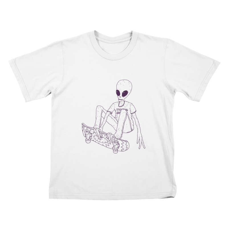 Alien Skater - Alt Kids T-Shirt by Laurent's Artist Shop