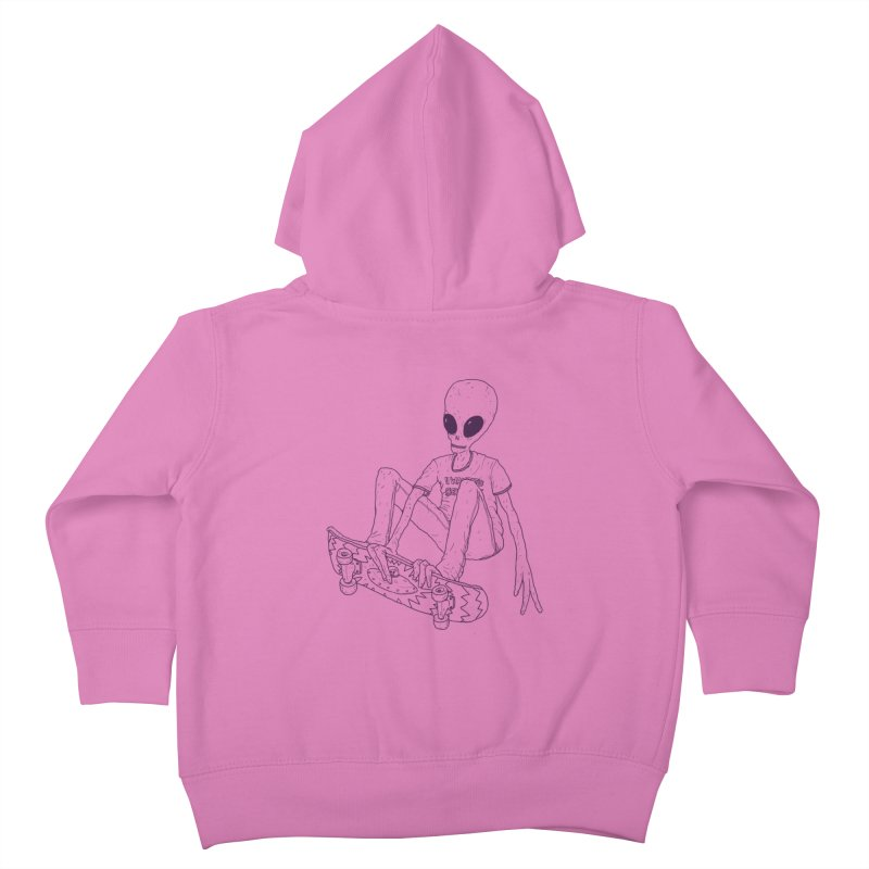 Alien Skater - Alt Kids Toddler Zip-Up Hoody by Laurent's Artist Shop