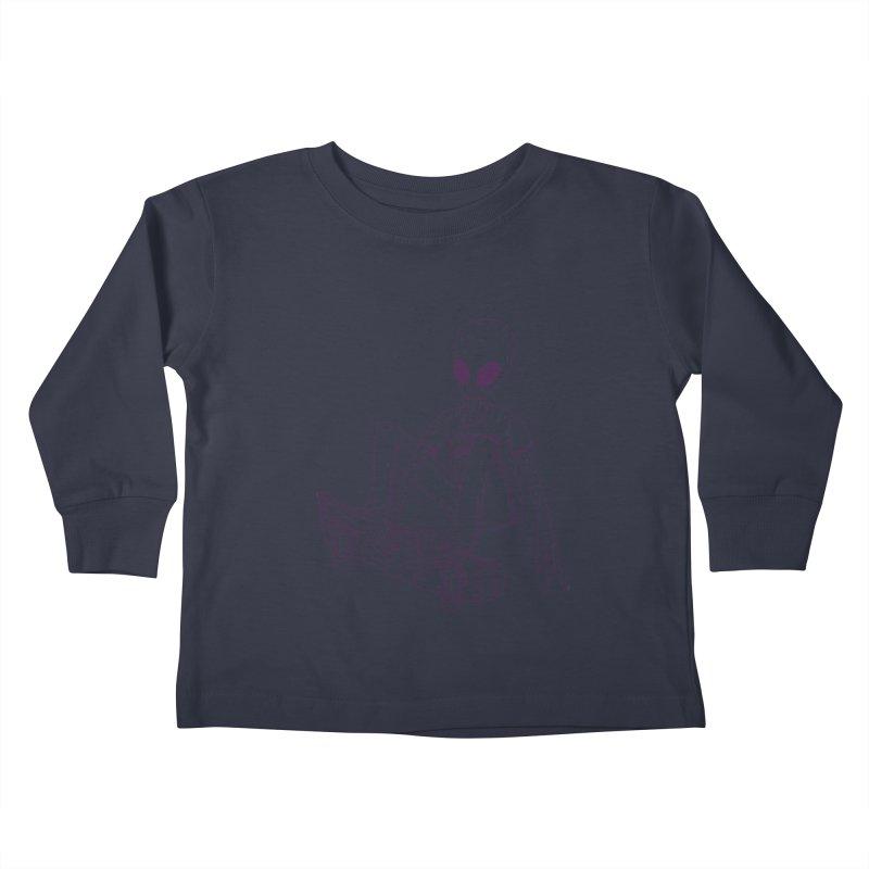 Alien Skater - Alt Kids Toddler Longsleeve T-Shirt by Laurent's Artist Shop