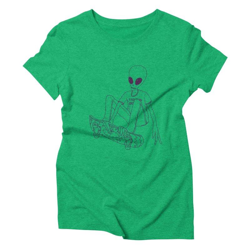 Alien Skater - Alt Women's Triblend T-Shirt by Laurent's Artist Shop