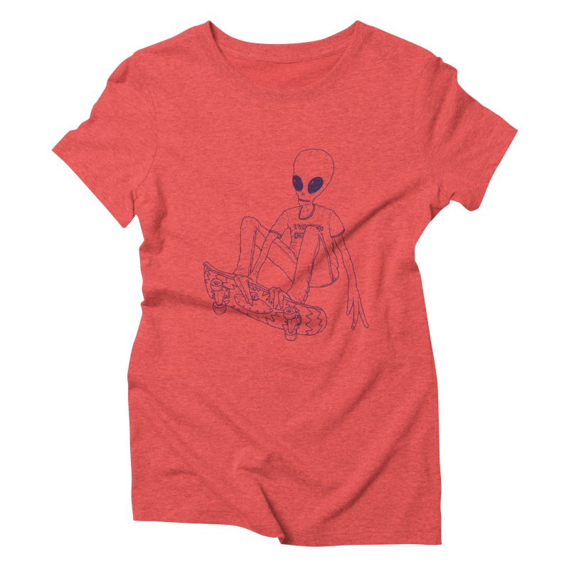 Alien Skater - Alt Women's Triblend T-shirt by Laurent's Artist Shop