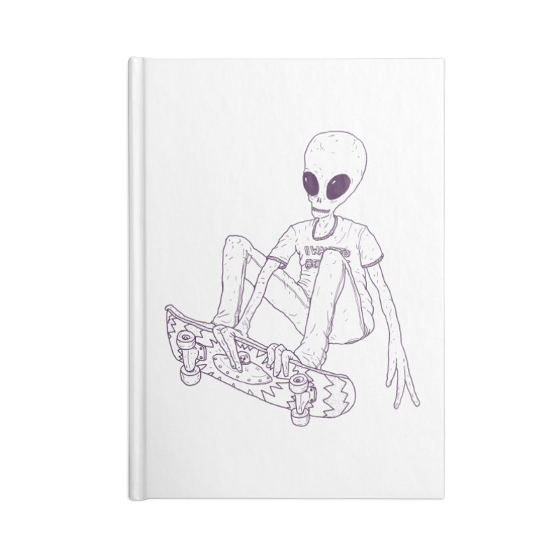 Alien Skater - Alt Accessories Notebook by Laurent's Artist Shop
