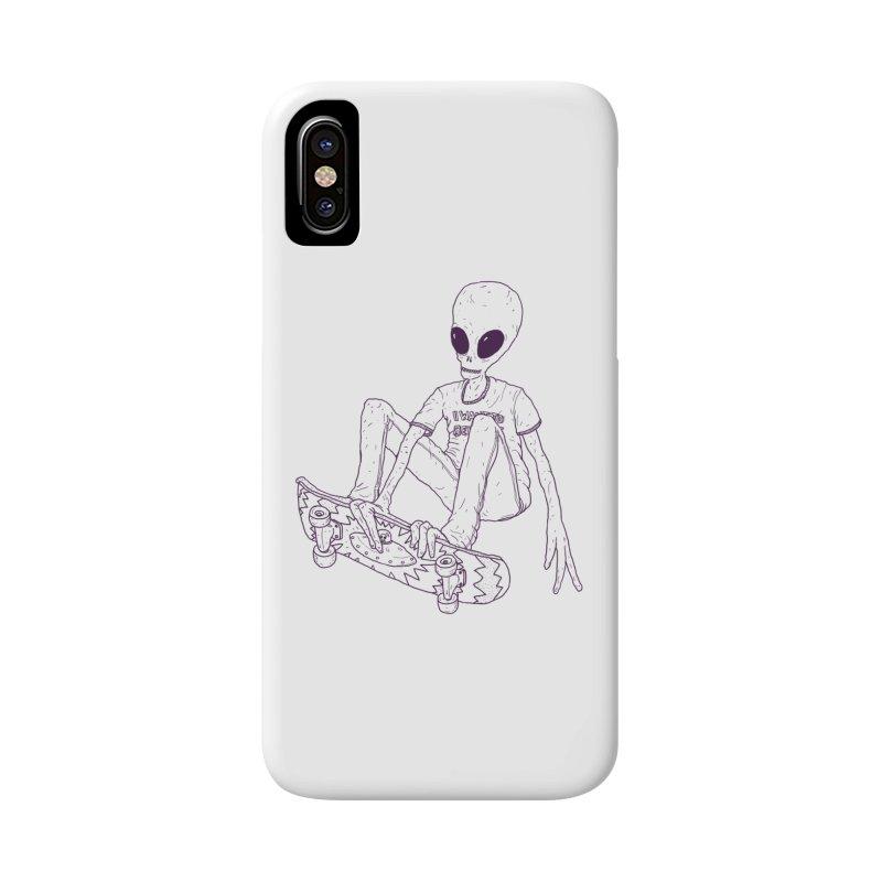 Alien Skater - Alt Accessories Phone Case by Laurent's Artist Shop