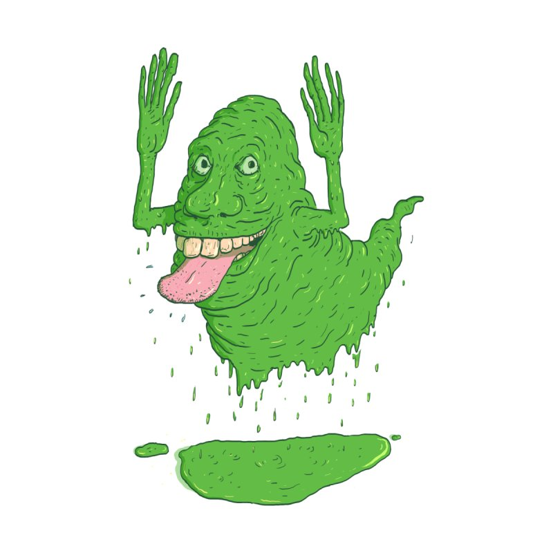 Slimer Kids T-shirt by Laurent's Artist Shop