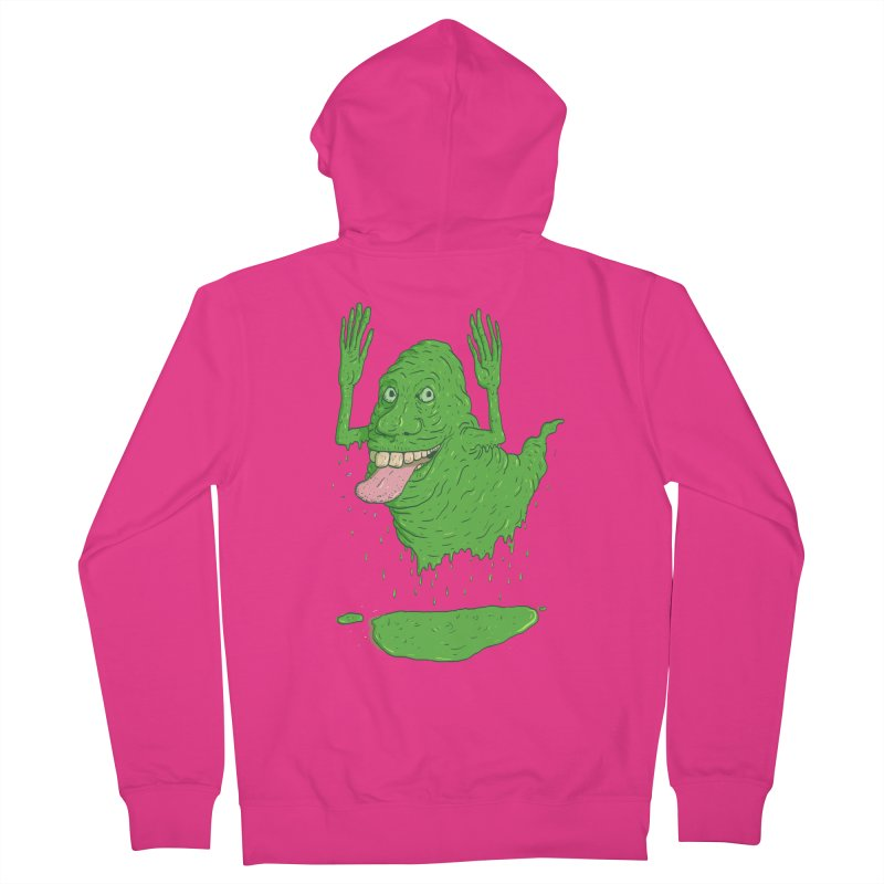 Slimer Men's Zip-Up Hoody by Laurent's Artist Shop