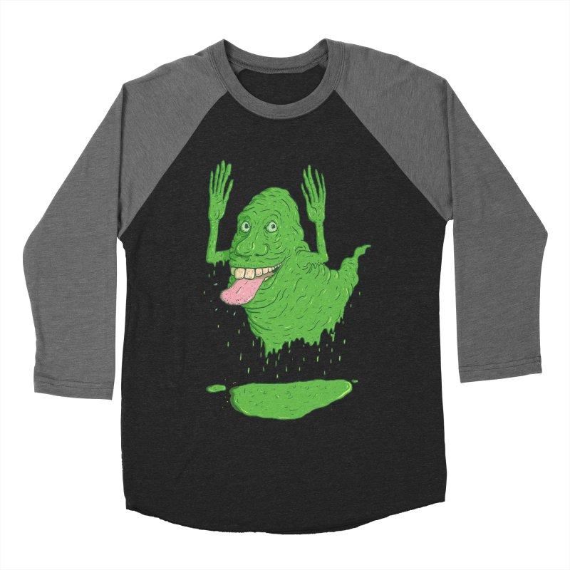Slimer Women's Baseball Triblend Longsleeve T-Shirt by Laurent's Artist Shop