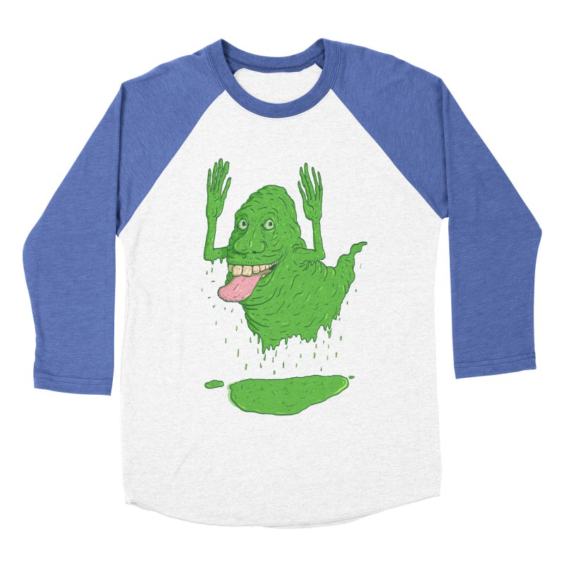 Slimer Men's Baseball Triblend T-Shirt by Laurent's Artist Shop