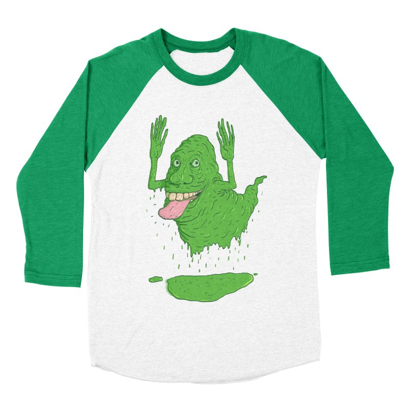Slimer Men's Baseball Triblend Longsleeve T-Shirt by Laurent's Artist Shop
