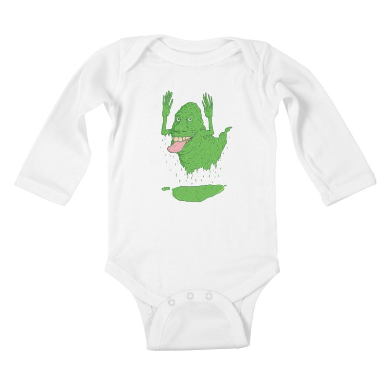 Slimer Kids Baby Longsleeve Bodysuit by Laurent's Artist Shop