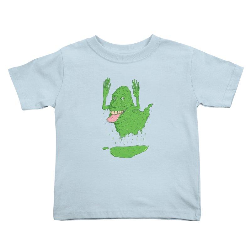 Slimer Kids Toddler T-Shirt by Laurent's Artist Shop