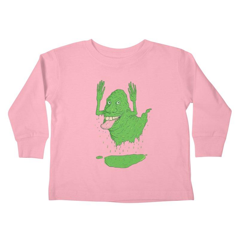Slimer Kids Toddler Longsleeve T-Shirt by Laurent's Artist Shop