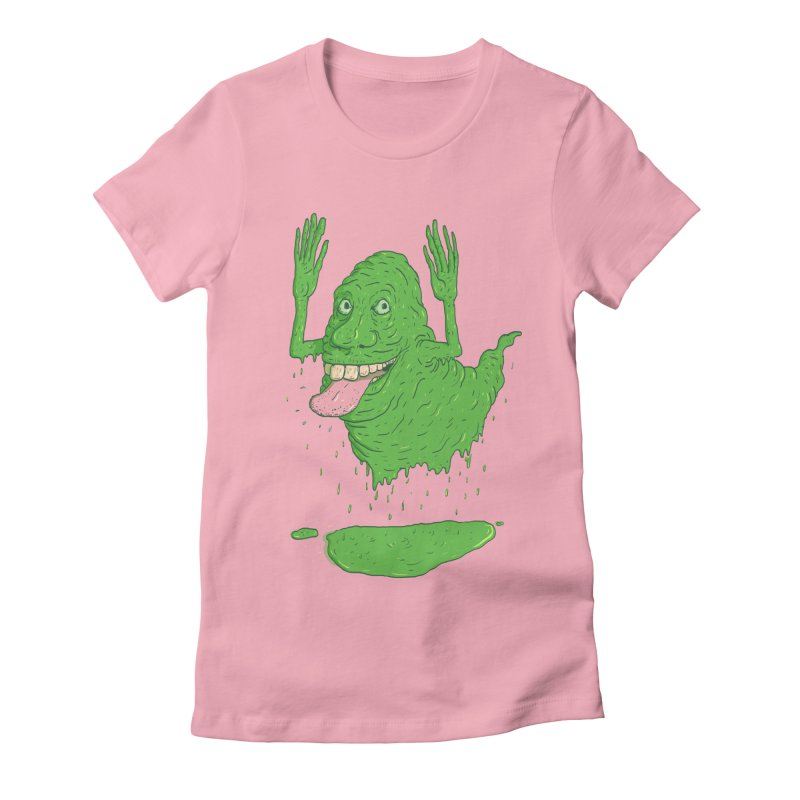 Slimer Women's Fitted T-Shirt by Laurent's Artist Shop