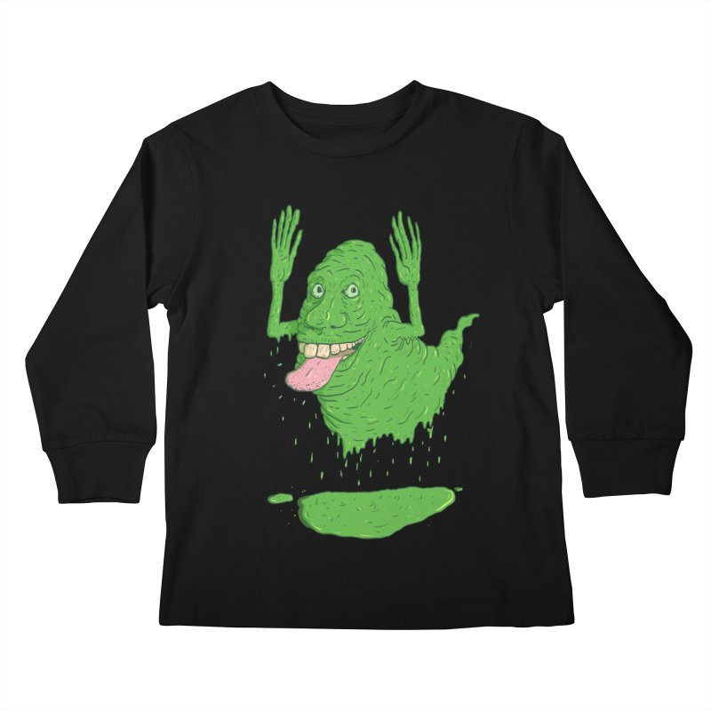 Slimer Kids Longsleeve T-Shirt by Laurent's Artist Shop